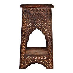 Hand Carved Small Wooden Temple Table