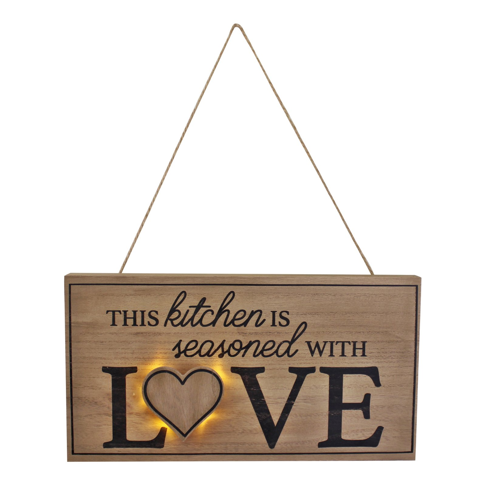 3D LED Kitchen Wall Hanging Plaque