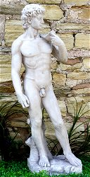 Stone Effect Male Figure David Large