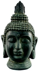 Stone Effect Buddha Head Large Statue