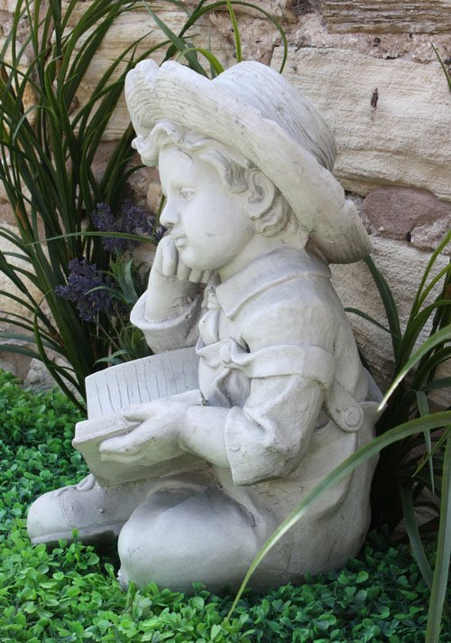 Stone Effect Boy Reading