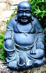 Stone Effect Laughing Buddha Statue