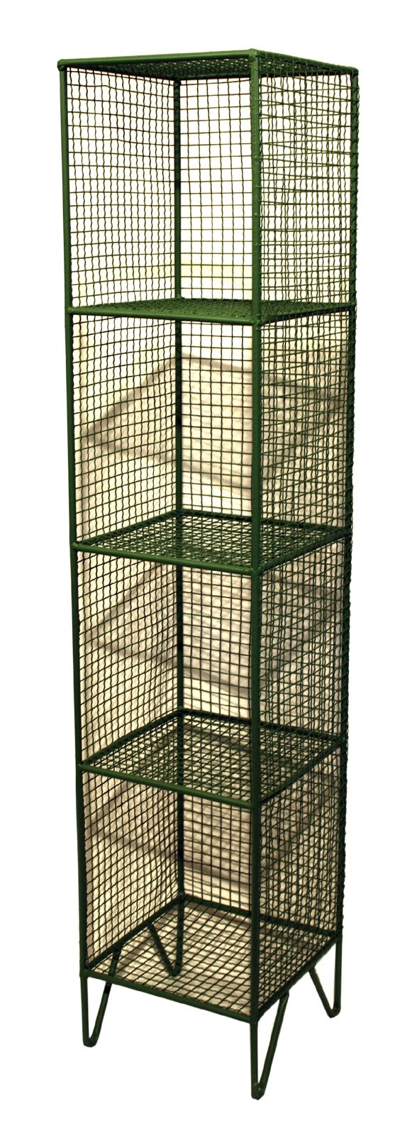 4 Tier Square Shelf Unit Green